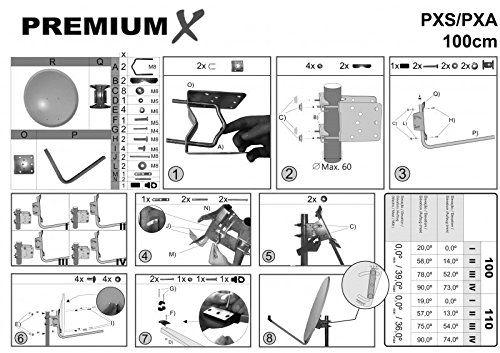 photo Wallpaper of SkyRevolt-PremiumX Digital HD SAT Anlage Antenne 100 Cm ALU Anthrazit Mit SkyRevolt Multischalter-