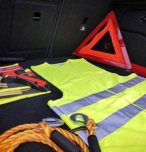 photo Wallpaper of ASARAH-Reflektierende Warnweste Sicherheitweste Unfall Weste Für Auto, KFZ, Fahrrad, Motorrad Pannenweste Sicherheit Warnweste -