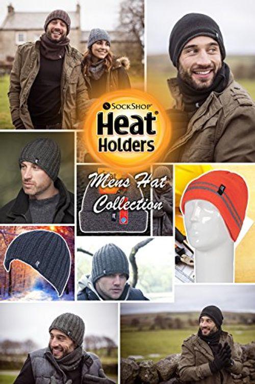photo Wallpaper of Heat Holders-Heat Holders   Herren Thermisch Vlies Gefüttert Gerippt Gestrickte Wintermütze-Grau