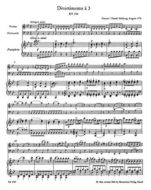 photo Wallpaper of Bärenreiter-Klaviertrios. Spielpartitur, Stimmen Im Umschlag, Urtextausgabe (Violine, Violoncello, Klavier)-