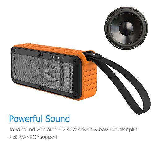 photo Wallpaper of TECEVO-TECEVO S30Outdoor Wireless Bluetooth Lautsprecher Mit Mikrofon, Robuste Spritzwassergeschützt Wasserdicht Stoßfest Staubdicht-S30 - Orange