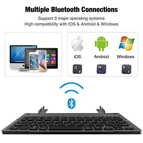 photo Wallpaper of ICOUVA-Faltbare Bluetooth Tastatur ,ICOUVA Faltbare Tastatur Ultradünne Wireless Keyboard Universelle Für IPhone IPad-Schwarz