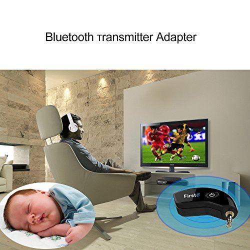 photo Wallpaper of FirstE-FirstE Tragbarer Drahtloser Bluetooth Transmitter Angeschlossen An TV Und 3,5 Mm Aux Audio Geräte-Original