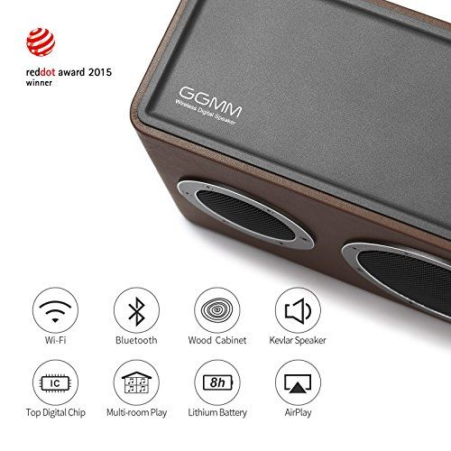 photo Wallpaper of GGMM-[Upgraded Version] GGMM M4 Tragbarer Multiroom Lautsprecher Wi Fi/ Bluetooth Lautsprecher AirPlay Lautsprecher-braun