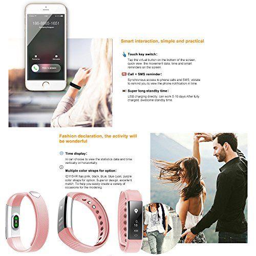 photo Wallpaper of AIEX-Fitness Tracker, Monitor De Ritmo Cardíaco AIEX Monitor Inteligente De Seguimiento Con-rosado