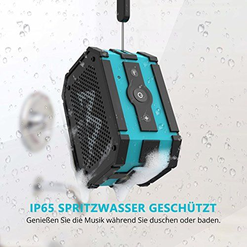 photo Wallpaper of Mpow-Mpow Bluetooth Lautsprecher Box Mit Smartphone Ladefunktion (Powerbank), IP65 Wasserdichte Musikboxen, Wireless Speaker-Blau