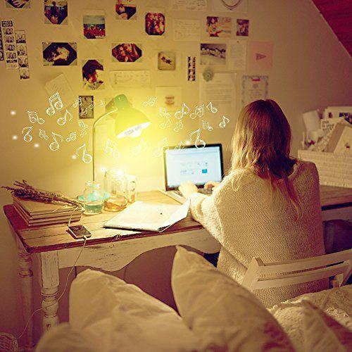 photo Wallpaper of Minger-Lampe Mit Bluetooth, MINGER Lautsprecher Mit 3W Bluetooth Für Schreibtisch-Warmweiß / mit Lautsprecher