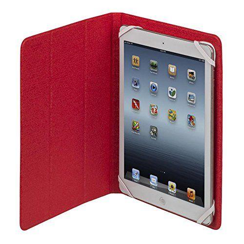 """photo Wallpaper of RivaCase®-RivaCase® Tablet Case Bis 10.1"""" – Sehr Flache Hülle Mit Zwei Farbigen Wendecover-Weiß/Rot"""