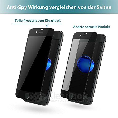photo Wallpaper of Klearlook-Apple IPhone 7 8 Panzerglas, Klearlook Privacy Glasfolie, Blickschutz, Anti Spy, Für 4.7 Zoll-Diamantschwarz [Anti-Spy]