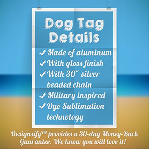 photo Wallpaper of Designsify-Designsify Best Gramps, Mit Hunde Tag, Aluminium Tag Halskette, Geschenk-Silber