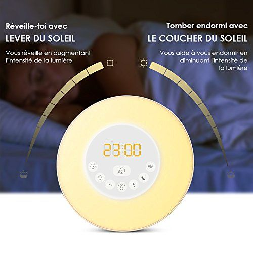 photo Wallpaper of Meerveil-Meerveil Wake Up Light Luces Despertador Radio Reloj (Luz Blanca/-White