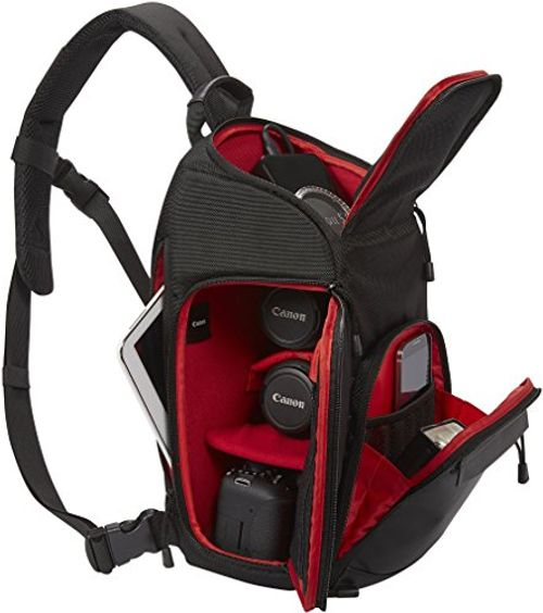 photo Wallpaper of Canon-Canon SL100 Sling Bag (Bis Zu 3 Objektive, Ein Tablet Und-Schwarz