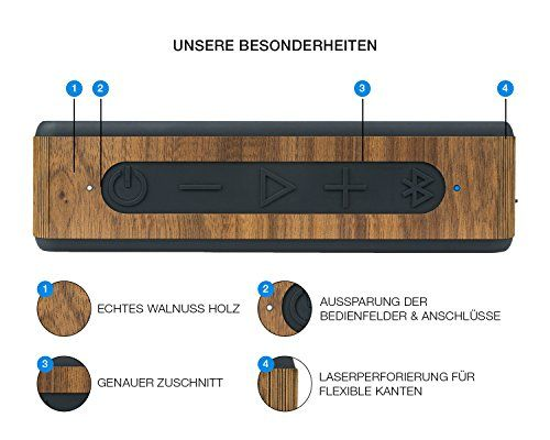 photo Wallpaper of balolo-Balolo Walnuss Echtholzcover Für Anker SoundCore 2-