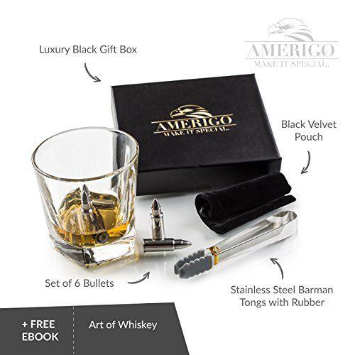 photo Wallpaper of Amerigo-Amerigo Premium Edelstahl Whisky Steine Geschenkset – Hohe Kühltechnologie  -