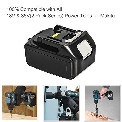 photo Wallpaper of LiBatter-LiBatter 18V 5.0AH Lithium Ion Werkzeugakkus Für Makita BL1850 BL1840 BL1830 LXT-5.0ah 1 Pack