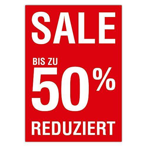 photo Wallpaper of Generic-10 X Plakat Sale Bis Zu 50 Prozent Reduziert DIN-