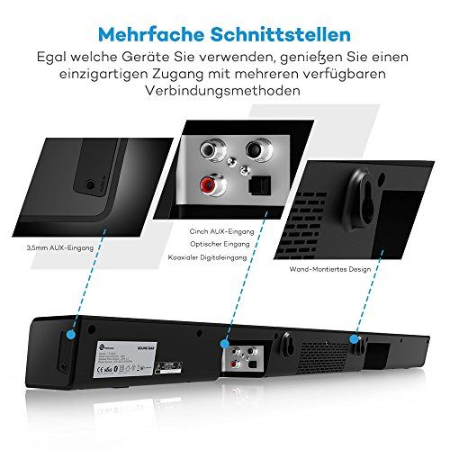 photo Wallpaper of TaoTronics-Soundbar Bluetooth Lautsprecher TaoTronics, 2.0 Kanal, 2 Kabellose Subwoofer, 40W Lautsprecher,-schwarz