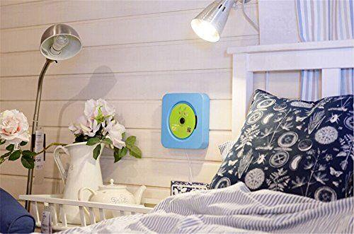 photo Wallpaper of KECAG-KECAG CD Player Wandmontierbar Bluetooth Lautsprecher Portable Home Audio Mit Fernbedienung FM Radio-Blau