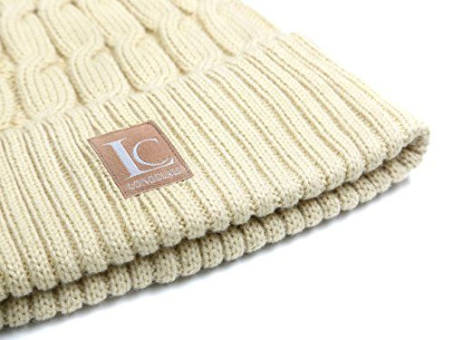 photo Wallpaper of LONGCLASS-Strickmütze Damen Beige Tan Mit Strick Zopf Muster CLASSY Beaniemütze Winter-Beige