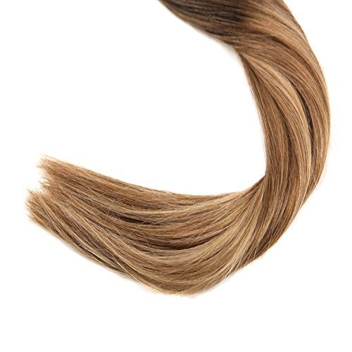 photo Wallpaper of -Sunny Extensiones De Cabello Natural Adhesivas Balayage Marron Mezclado Caramelo Rubio 100%-