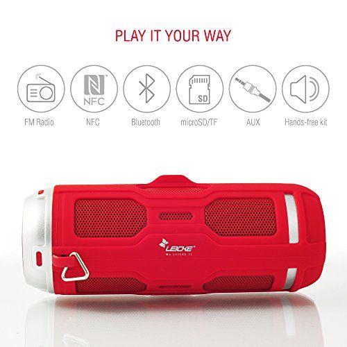 photo Wallpaper of Leicke-LEICKE DJ Roxxx Active Stereo Tragbarer Lautsprecher 10W Rot–Tragbare Lautsprecher (2 Wege, 3,81cm,-rot