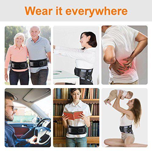 photo Wallpaper of LeaderPro-LeaderPro Cinturon Lumbar Faja Lumbar Para Mujer Y Hombre 4 Pcs Tiras De-