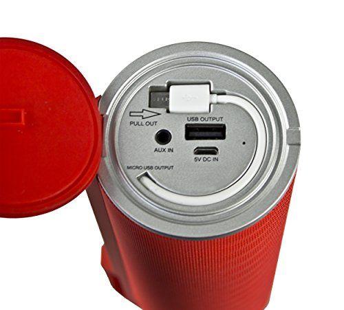 photo Wallpaper of Telefunken-Telefunken BS1003 Tragbarer Bluetooth Lautsprecher (Aux In, Freisprecheinrichtung, 9 Stunden Wiedergabe)-rot