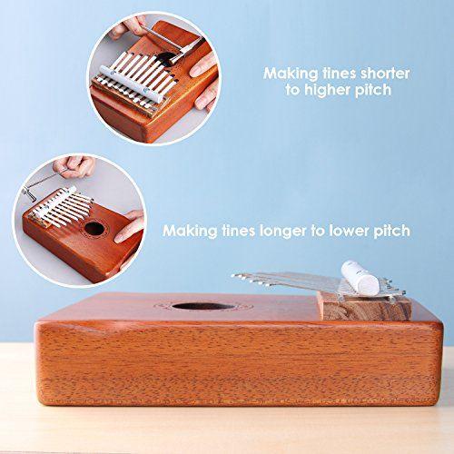 photo Wallpaper of Amosic-Amosic Kalimba Lamellophone 10 Schlüssel Daumenklavier Spielzeug Afrikanischen Musikinstrument Mit Stimmwerkzeug Und-