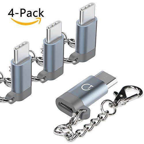 photo Wallpaper of Gratein-USB C Adapter Typ C Adapter, Gratein 4 Stücke Premium Aluminium Typ-Grau