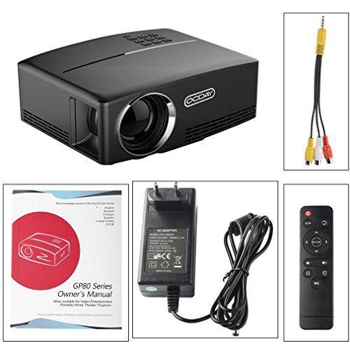 "photo Wallpaper of OCDAY-Mini Beamer, OCDAY Mini Video Projektor LED 1800 ANSI Lumen Lichtausbeute 180"" LCD-"