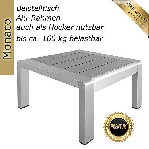 photo Wallpaper of RS Trade-Aluminium Beistelltisch Auch Als Hocker Nutzbar Bis 90 Kg Für Rattan Liege, Gartenliege, Sonnenliege,-