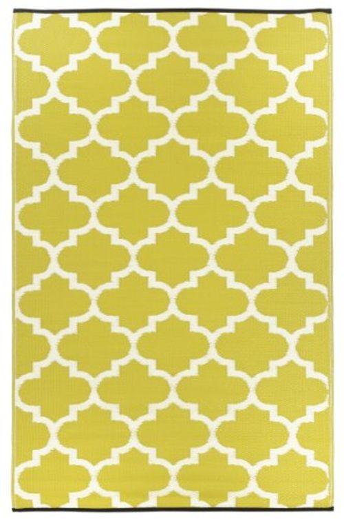 photo Wallpaper of Fab Hab-Fab Hab   Tangier   Sellerie & Weiß   Teppich/-Schwefel gelb & Weiß