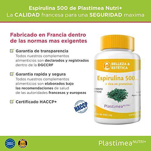 photo Wallpaper of Plastimea Nutri +-ESPIRULINA De 200 Capsulas De 500 Mg   Verdadera Espirulina Californiana-