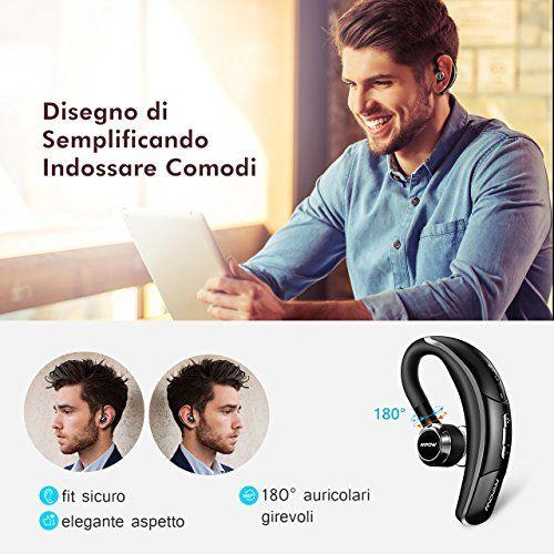 photo Wallpaper of Mpow-Mpow® Bluetooth Headset [Business Stil] Wireless Headset Bluetooth Ohrhörer Freisprechen Mit Clear-Black