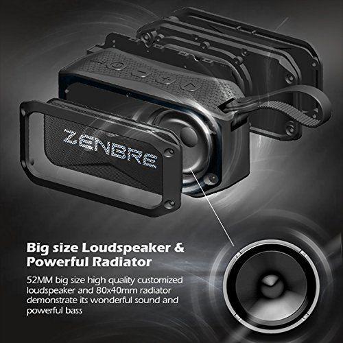 photo Wallpaper of ZENBRE-Bluetooth Lautsprecher, ZENBRE D5 Bluetooth 4.1 IPX7 Lautsprecher, 40 Stunden Spielzeit Mit 6 W-Schwarz