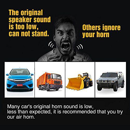 photo Wallpaper of Audew-Audew Lufthorn Drucklufthorn Luftdruck Fanfare Auto Horn Mit Kompressor 150DB 12V Hupe-B