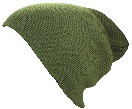 photo Wallpaper of Alex Flittner Designs-XXL Long Beanie / Basic Flap In Olive Damenmütze / Herrenmütze-Olive
