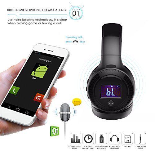 photo Wallpaper of ELEGIANT-Bluetooth Kopfhörer, ELEGIANT Multifunktion Bluetooth 4.0 Wireless Stereo Headset Wiederaufladbare Drahtlose Kopfhörer Ohrhörer Mit-Schwarz