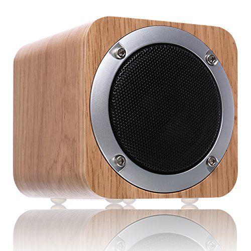 photo Wallpaper of ZENBRE-Bluetooth Lautsprecher Holz, ZENBRE F3 6W Tragbarer Bluetooth 4.1 Mit 10 Stunden Laufzeit,-Weiß Eiche