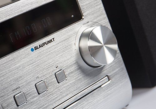 photo Wallpaper of Blaupunkt-Blaupunkt MCD 50 Hifi Mikroanlage (CD, MP3 Player, USB, Bluetooth)-Schwarz, Silber