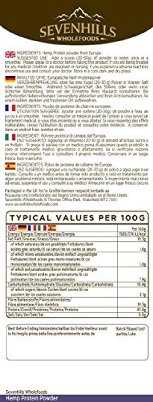 photo Wallpaper of Sevenhills Wholefoods-Sevenhills Wholefoods Proteína De Cáñamo Cruda En Polvo 1kg-