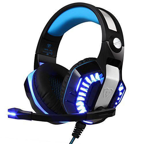 photo Wallpaper of TurnRaise-TurnRaise Gaming Kopfhörer PC Computer über Ohr Stereo Kopfhörer Mit Mikrofon Für PS4,-Blau