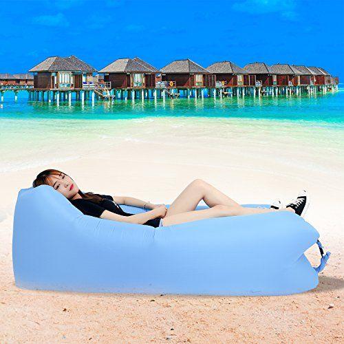 photo Wallpaper of DINPEI-DINPEI Aufblasbares Sofa, Wasserdichtes Aufblasbarer Liege Luft Sofa Mit Tragebeutel, Tragbarer-Blau
