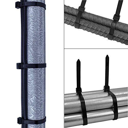 photo Wallpaper of HiChange-Nylon Kabelbinder, HiChange Schwarz Selbstsichernde Cable Ties Zip Ties Kabelbinder, 2.5x100mm 3.9Zoll, 200-