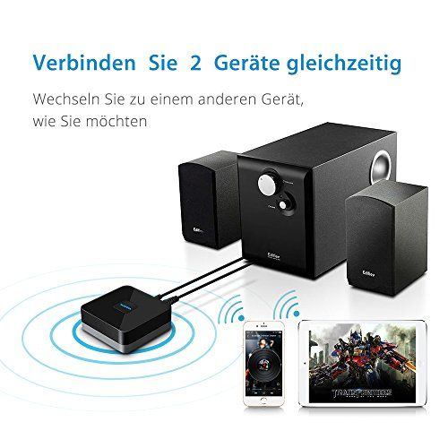 photo Wallpaper of Mpow-Mpow Bluetooth 4.1 Empfänger Audio Adapter Für Stereoanlage Heim HiFi Auto Lautsprecher Musikstreaming-Black