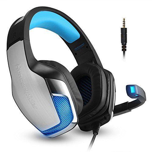 photo Wallpaper of Micolindun-Headset Gaming Mikrofon Kopfhörer Gamer Leicht Basse Stereo Rauschen Isolating Für Ps4, Xbox One,-Blau
