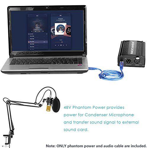 photo Wallpaper of Neewer-Neewer NW 800 Kondensatormikrofon Set Mit USB 48V Phantomspeisung, NW 35 Aufhängung Scherenarmständer,-