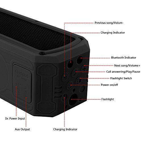 photo Wallpaper of Banaroo-Solar Bluetooth Lautsprecher, BANAROO 55 Stunden Spielzeit Tragbar Lautsprecher Dual Treiber HD Stereo-Black