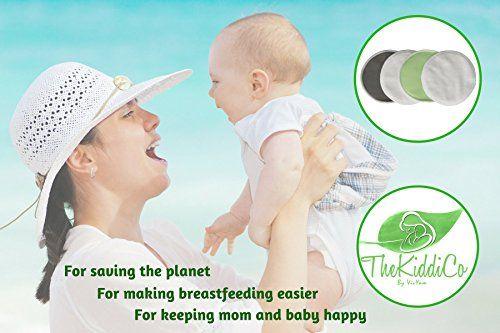 photo Wallpaper of TheKiddiCo-Parches De Lactancia De Bambú Orgánico (14 Pack) Con Bolsas-Pink Laundry Bag