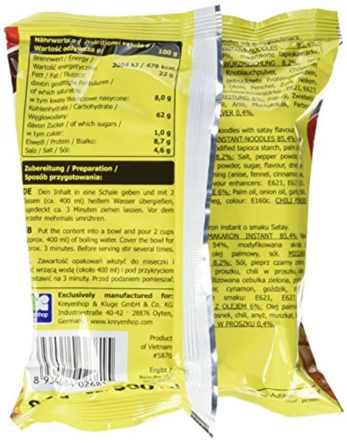 photo Wallpaper of A-One-A ONE Instantnudeln, Satay, (BBQ), 30er Pack (30 X 85 G Packung)-